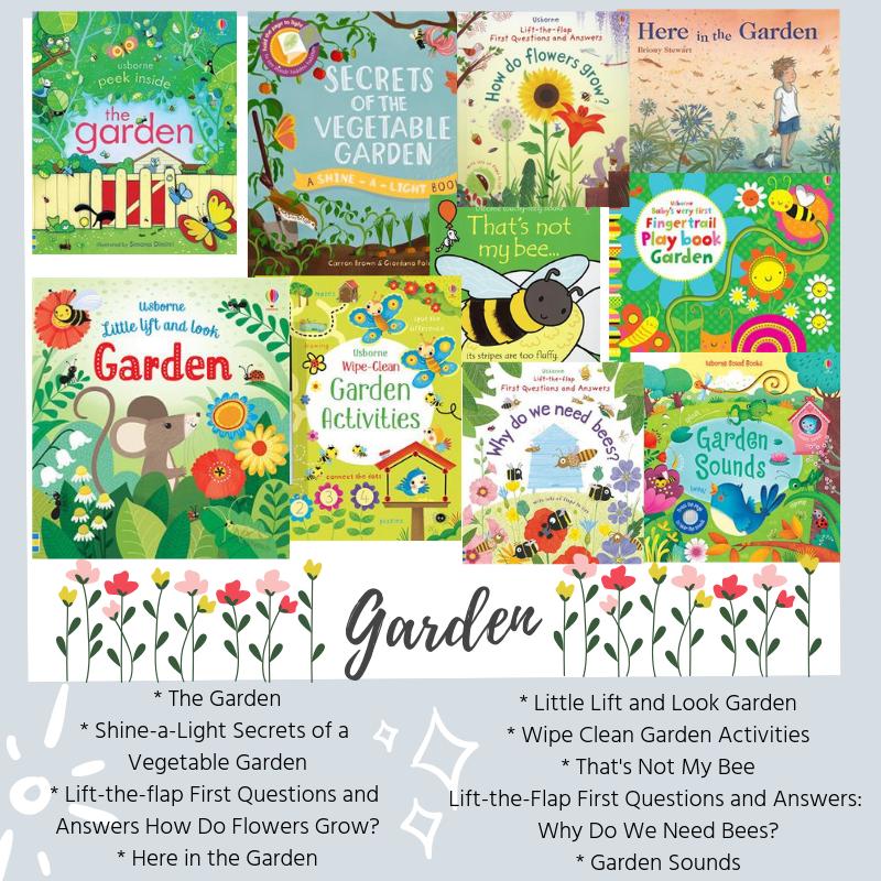 easter book box - garden